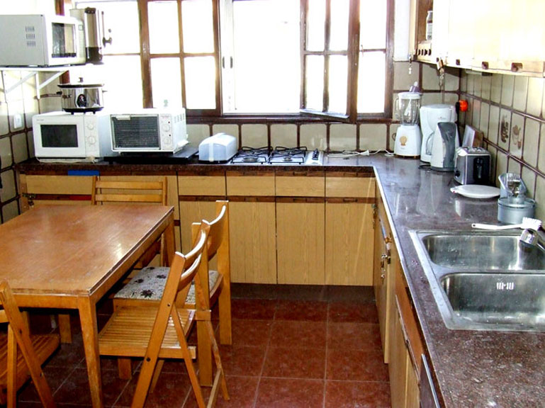 Fully kosher kitchen with an eating section for Kashering dishwasher